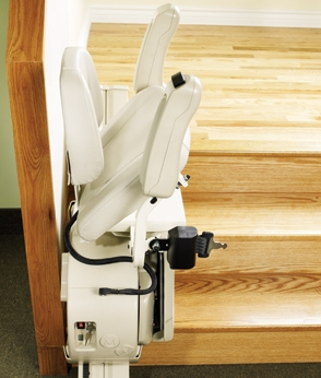 Savaria SL-1000 Stair Lift in the folded position